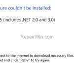 FIX: Net Framework 3.5 0x800F0906 Installation Error (Solved)