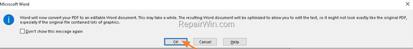 Convertir documento PDF a Word