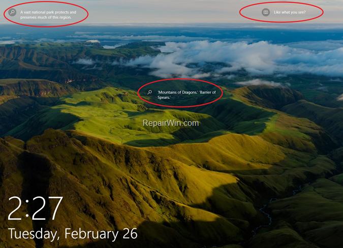 Remove Windows Spotlight items from Windows 10 Lock Screen