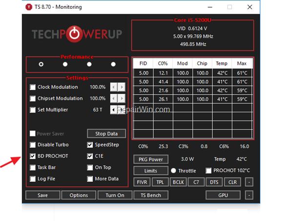 FIX Slow CPU Speed with ThrottleStop