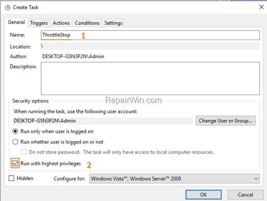 Open ThrottleStop automatically at Windows Startup
