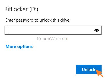 unlock bitlocker windows 10