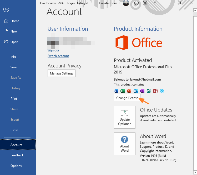 office product key 2016 cmd
