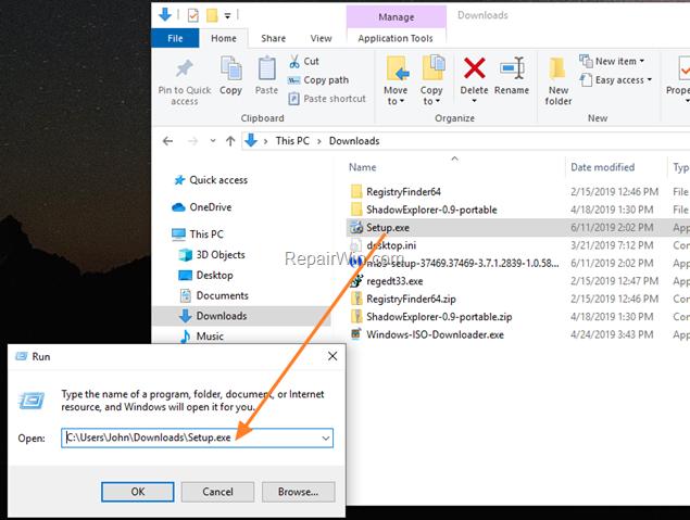 Run App in Command Prompt Admin
