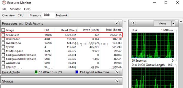 FIX SrTasks.exe High Disk Usage - Windows 10
