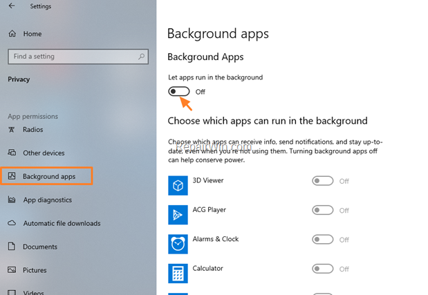 Prevent Apps from Running in the Background - Windows 10