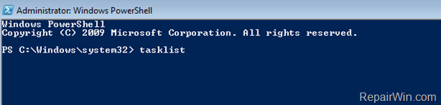 Terminate process from powershell