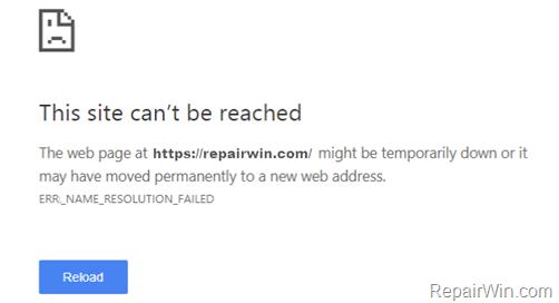 FIX: ERR_NAME_RESOLUTION_FAILED on Chrome