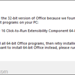 FIX: We can't Install Office because of Office 16 Click to Run Extensibility Component Registration. (Solved)