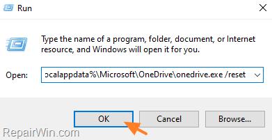 Reset OneDrive