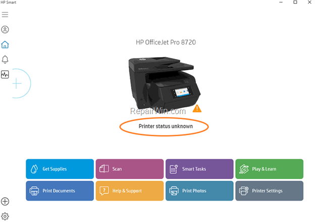 "FIX: HP Smart ""Printer Status unknown"""