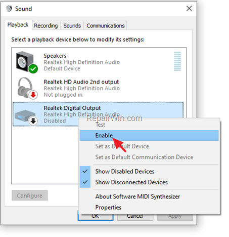 FIX: HDMI Not Listed in Playback devices