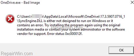 FIX: Windows 10 Bad Image Error