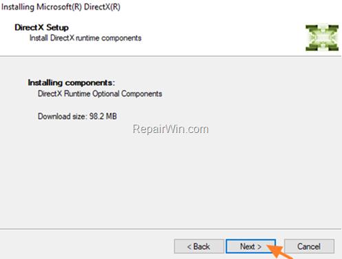 Install DirectX Windows 10
