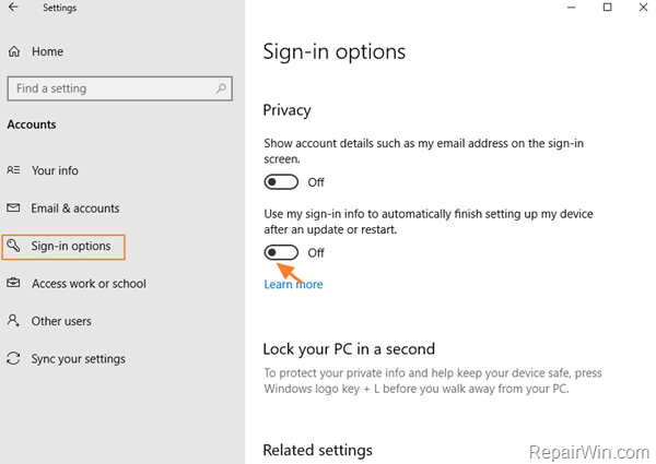 Khắc phục: Không thể đăng nhập sau khi cập nhật trong Windows 10