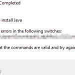 FIX: Java Installation Not Completed – Unable to install Java error in Java .JAR files. (Solved)