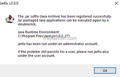 Fix Java JAR file association