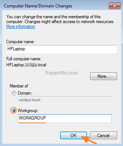 Change Computer Name - Membership
