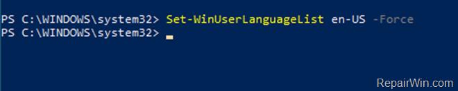 Reset Default Display Language in Windows 10