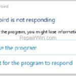 FIX: Thunderbird not responding or freezing. (Solved)