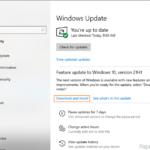 FIX: Windows 10 21H1 Installation Problems.