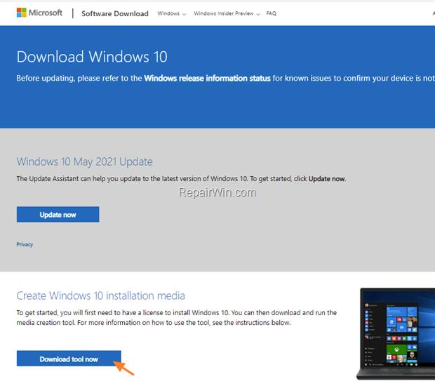 Update to Windows 10 21H1