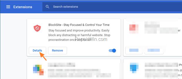 Blocksite details