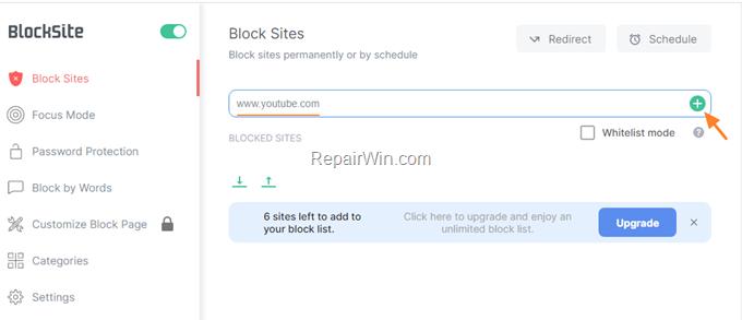 blocked sites chrome