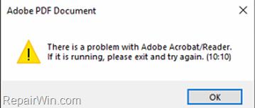 FIX Adobe Reader Error 10:10