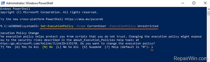 Enable Running Scripts on Windows 10
