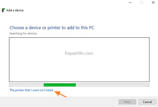 Add Printer Manually