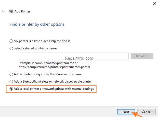 Install Local printer